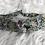 Thumbnail: Headband / bandeau en coton fleuri sur fond blanc