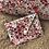 Thumbnail: Pochette enveloppe en coton aspect lin fleuri