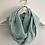Thumbnail: Tour de cou / snood en double gaze de coton vert menthe