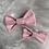 Thumbnail: Barrette en coton plumetis rose pâle