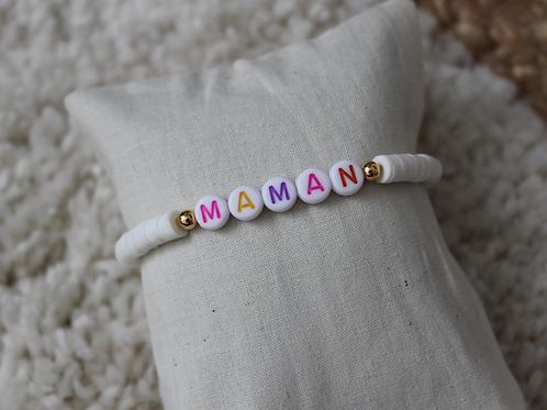 Bracelet Maman blanc