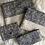 Thumbnail: Trousse / étui à lunettes en coton motifs bleu et lin