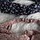 Thumbnail: Headband / bandeau en coton fleuri sur fond coloré