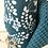 Thumbnail: Essuie tout lavable et réutilisable motif blanc sur fond bleu canard