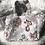 Thumbnail: Cabas en toile de coton motifs fleuris multicolores fond blanc