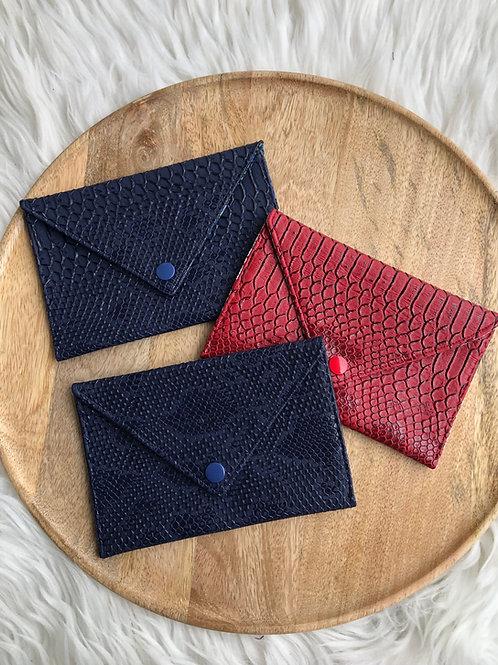 Pochette enveloppe simili cuir croco