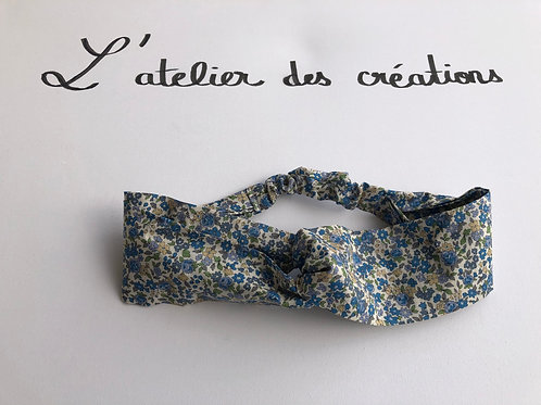 Headband / bandeau en coton fleuri Froufrou