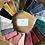 Thumbnail: Lingettes en double gaze coton et éponge bambou tons noir/ bleu