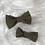 Thumbnail: Barrette en coton plumetis vert kaki