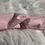 Thumbnail: Headband / bandeau en coton plumetis rose pâle
