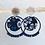 Thumbnail: Clous d'oreilles argentes tissés avec sequin en tissu