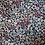 Thumbnail: Cabas en toile de coton aspect lin motifs fleuris sur fond bleu