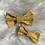 Thumbnail: Barrette en coton plumetis moutarde