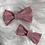 Thumbnail: Barrette en coton plumetis vieux rose
