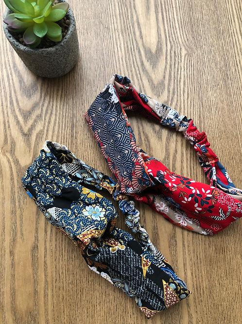 Headband / bandeau en viscose à motifs