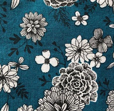 Commande lingettes motifs  fleurs fond pétrole.JPG