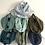 Thumbnail: Tour de cou / snood en double gaze de coton bleu indigo