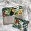 Thumbnail: Trousse pochette en toile de coton aspect lin motifs perroquets tropicaux