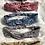 Thumbnail: Headband / bandeau en coton fleuri noir Froufrou
