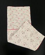 couverture bébé éléphant polaire rouge 4