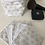 Thumbnail: Panière et lingettes en coton et éponge bambou motifs géométriques argenté