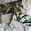 Thumbnail: Trousse pochette en toile de coton aspect lin multicolores