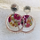 Thumbnail: Clous d'oreilles argentés tissés avec sequin en tissu
