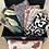 Thumbnail: Trousse / étui à lunettes en coton motifs fleurs rouge