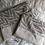 Thumbnail: Trousse pochette en toile de coton aspect lin motifs beige et lin