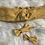 Thumbnail: Headband / bandeau en coton plumetis moutarde