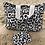 Thumbnail: Pochette enveloppe en coton aspect lin motifs abstraits