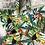 Thumbnail: Trousse / étui à lunettes en coton motifs multicolores perroquets