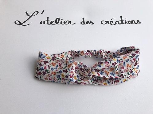 Headband / bandeau en coton fleuri