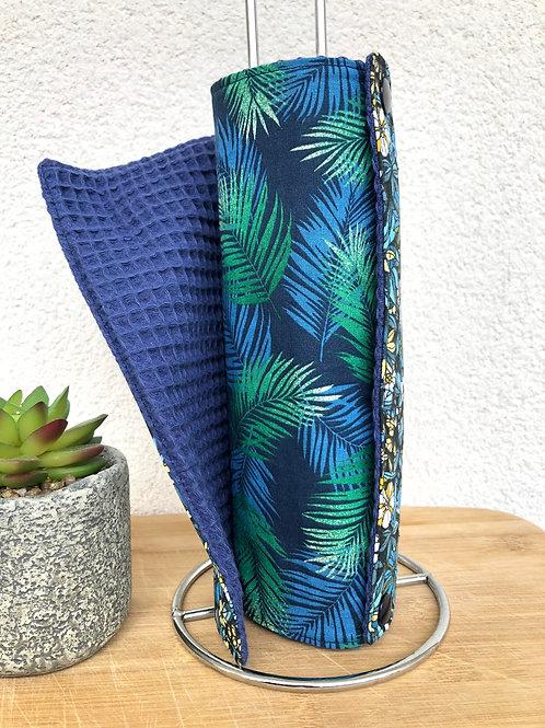 Essuie tout lavable et réutilisable motifs feuilles et fleurs