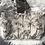 Thumbnail: Cabas en toile de coton aspect lin motifs jungle noir sur fond lin