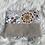 Thumbnail: Trousse pochette en toile de coton aspect lin motifs fleuris