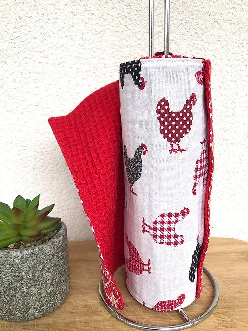Essuie tout lavable et réutilisable motifs tons rouge