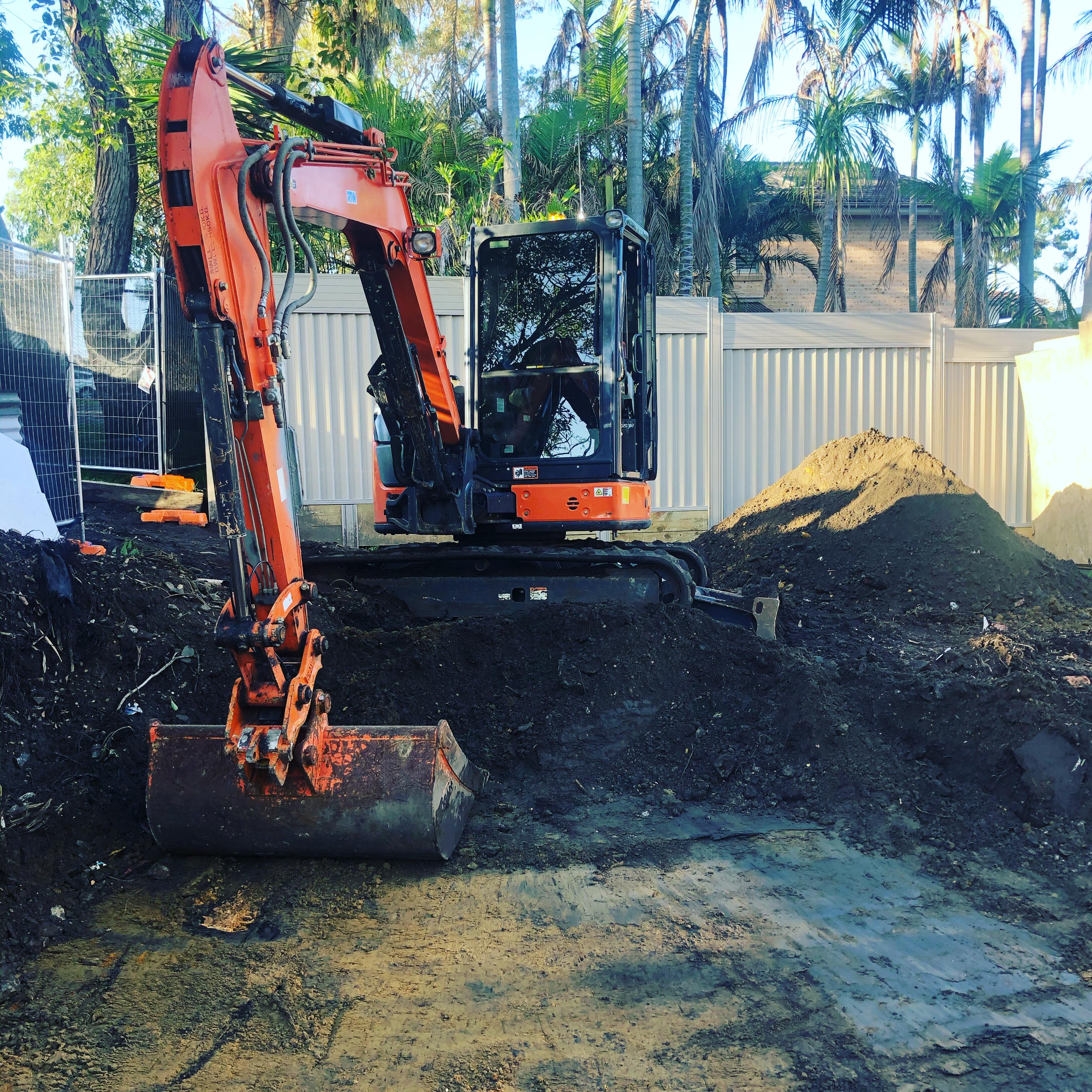 Excavator Site Cut