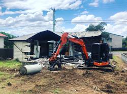 House Demo Excavator