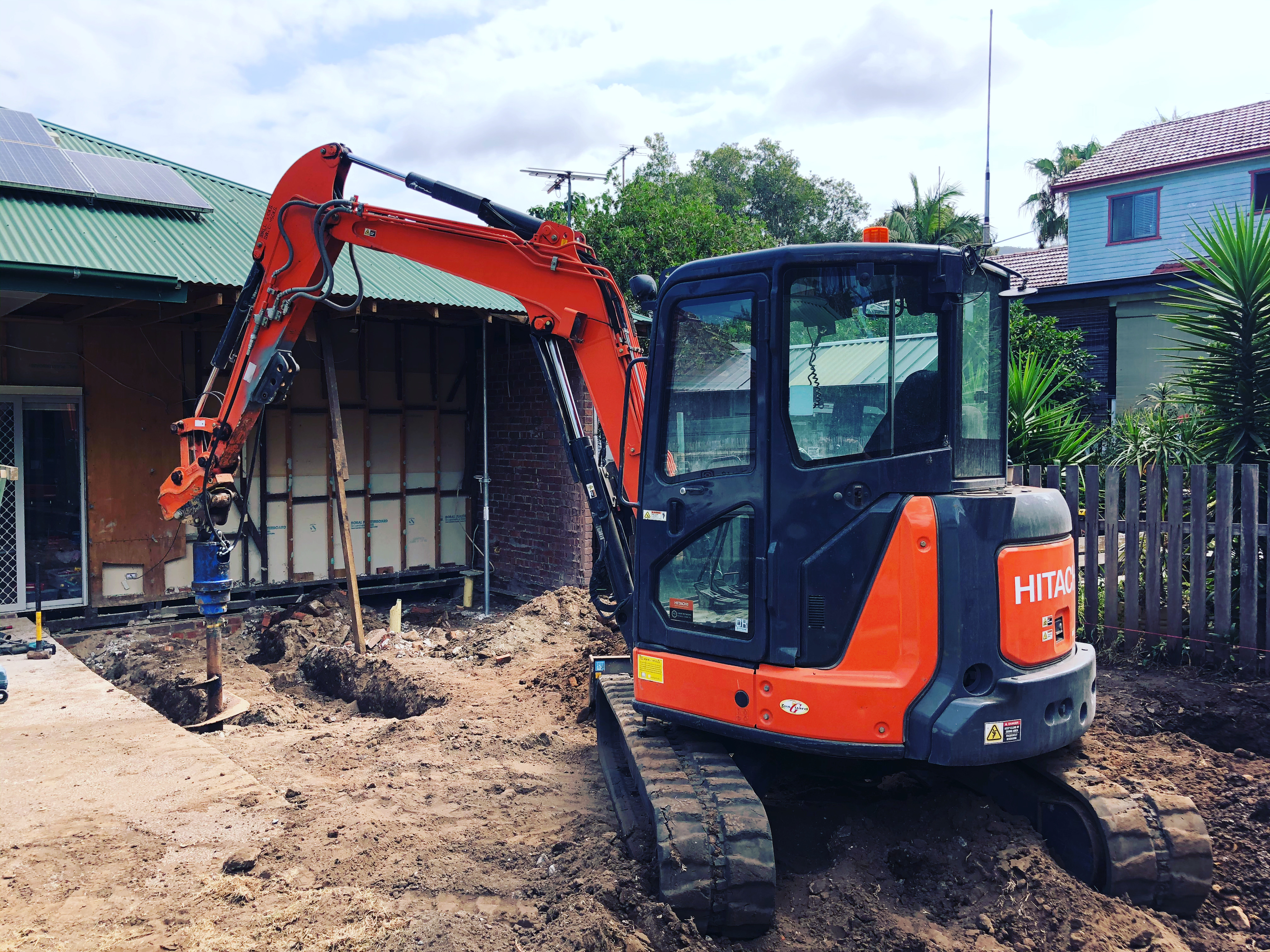 Excavator Peir Holes Auger