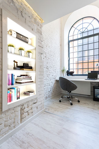 LiteShelf Classic Raw Brick Home Office