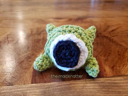 One Eyed Green Monster Pocket Hug Amigurumi Crochet Pattern