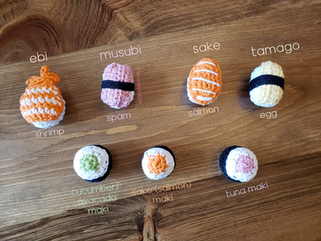 Sushi Magnets FREE Crochet Pattern