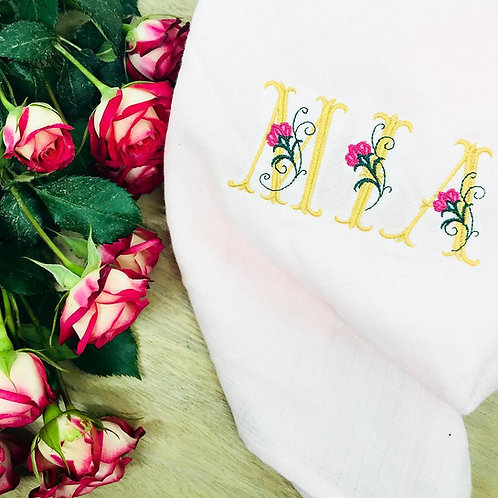 Lange lettre fleuries