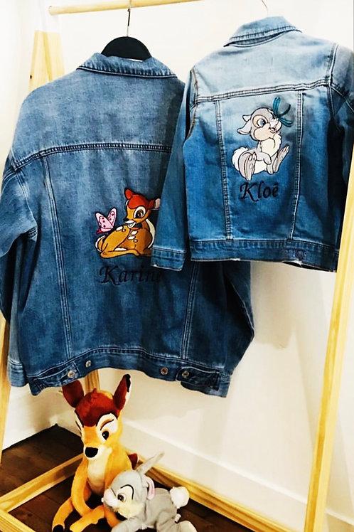 veste en jeans personnalisée adulte