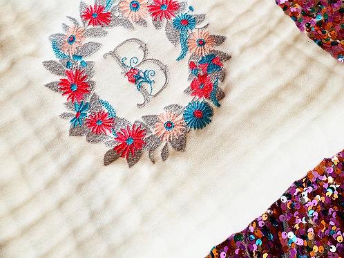 Couverture couronne de fleurs