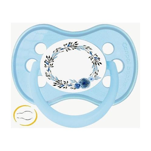 Tétine blue flower crown