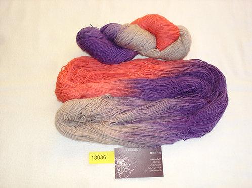 orangerot/lila/taupe