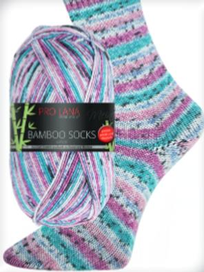 Bamboo Socks fuchsia/türkisNr.959