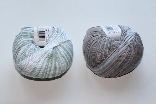 Candy weiß/hellblau/mint/grau 672